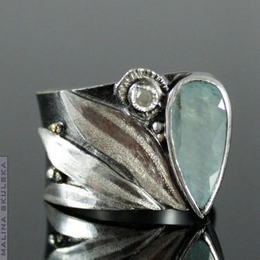 Rutenowany asymetryczny z grandidieritem i diamentem
