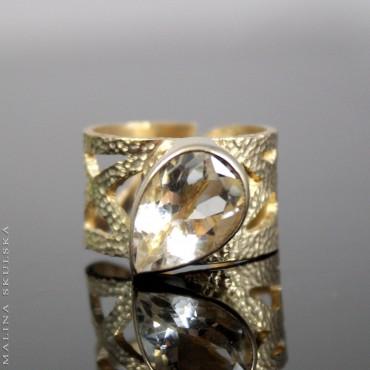 Ażurowy geometryczny z kwarcem