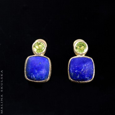 Sztyfty z lapisem lazuli i peridotami