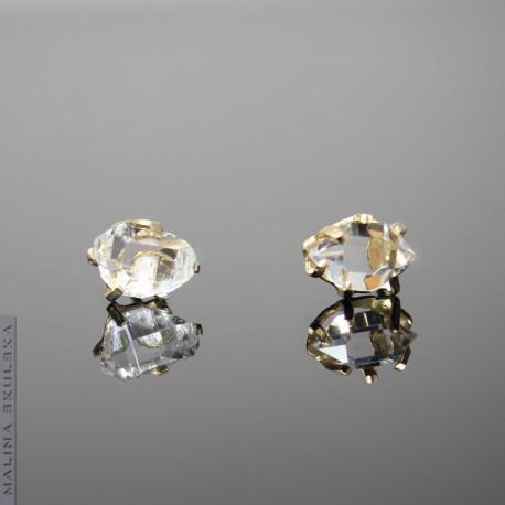 Pozłacane ztyfty z diamentami z Herkimer