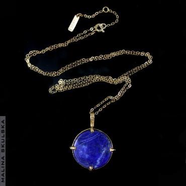 Pozłacany naszyjnik z lapis lazuli